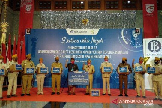 BI Bali bantu 137 paket bahan pokok dan alat kesehatan untuk veteran