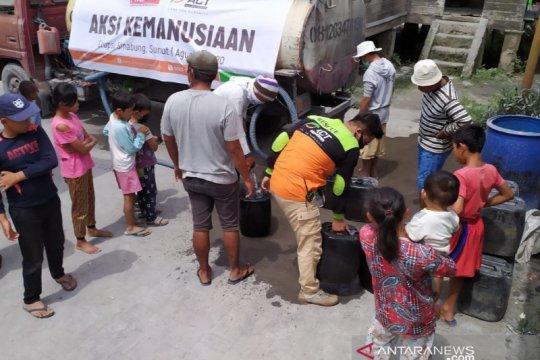 ACT Sumut salurkan air bersih warga terdampak erupsi Gunung Sinabung