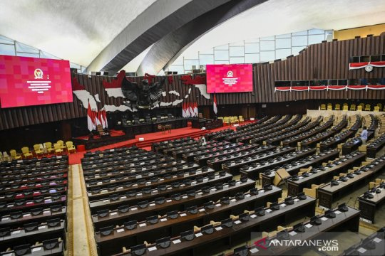 Presiden Jokowi tinjau tempat Sidang Tahunan