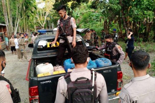 Polisi Nabire sita 1.000 liter minuman beralkohol lokal jenis Bobo