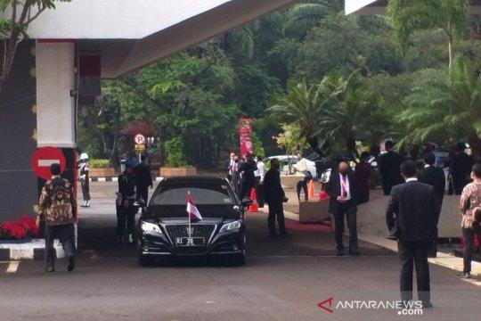 Menteri dan Pimpinan Lembaga Negara mulai tiba di Gedung MPR/DPR/DPD