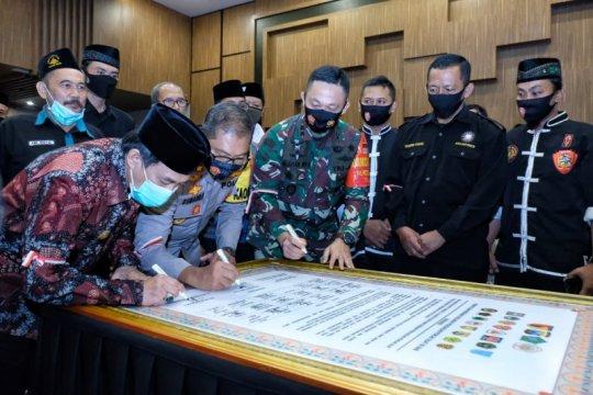 Belasan perguruan silat di Sidoarjo deklarasi damai jelang pilkada