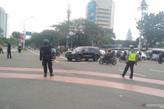 Pidato kenegaraan, Polisi tutup ruas jalan sekitar gedung DPR