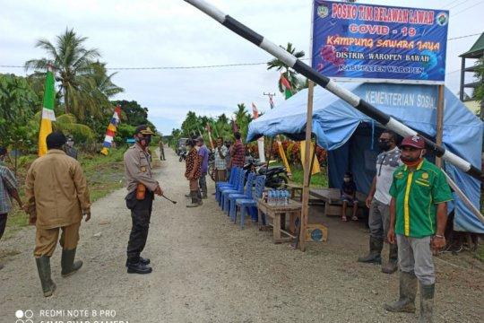 Kapolres Waropen resmikan Kampung Tangguh Papeda