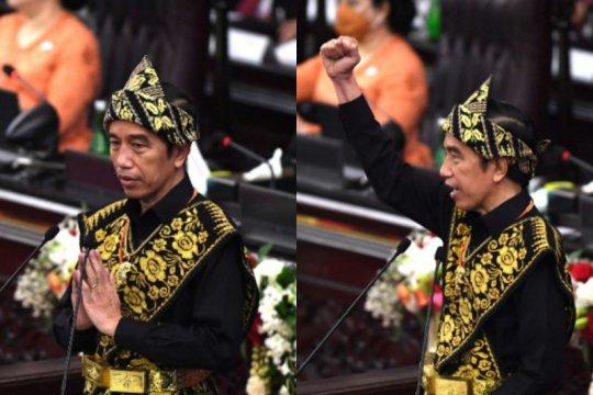 Mengulik ekspresi Presiden Jokowi saat berpidato di Sidang Tahunan MPR