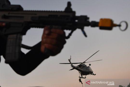 Latihan pasukan khusus gabungan TNI AL