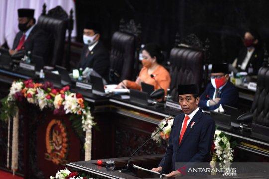 Presiden Jokowi sampaikan pidato pengantar RUU APBN 2021 dan nota keuangan