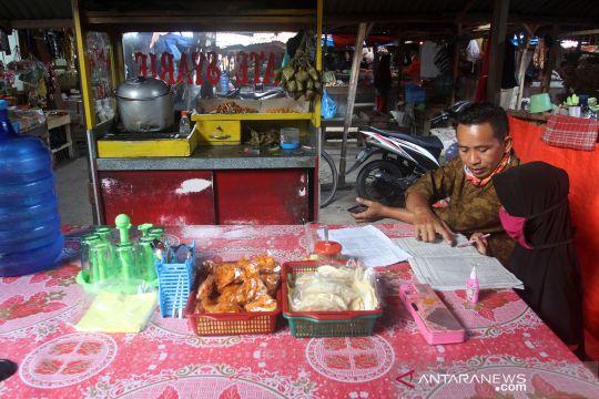 Belajar bersama ayah di pasar
