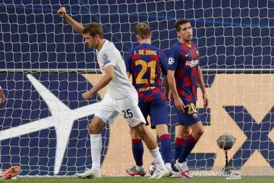 Liga Champions:  babak pertama Barcelona tertinggal 1-4 dari  Bayern Munich