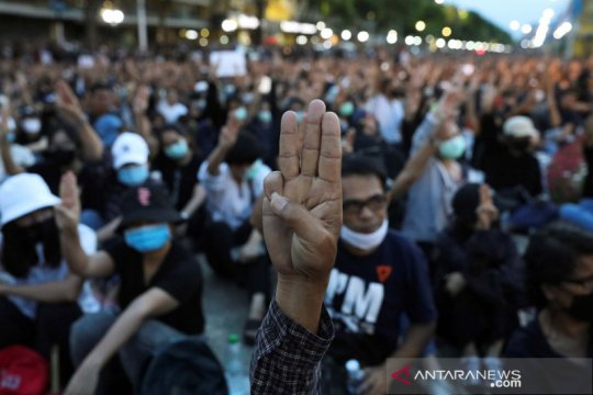 Kepolisian Thailand tangkap delapan aktivis karena gelar unjuk rasa