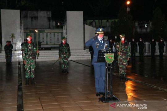 Komandan Lanud Silas Papare pimpin apel kehormatan renungan suci