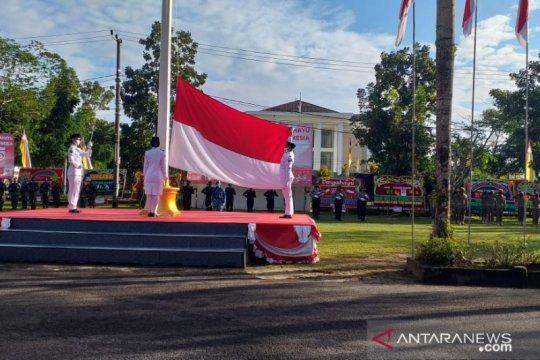 Upacara HUT ke-75 RI di Belitung berlangsung khidmat