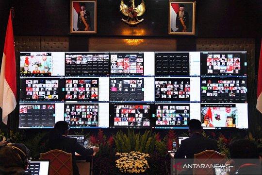 Upacara HUT ke-75 RI secara daring dapat penghargaan rekor dunia