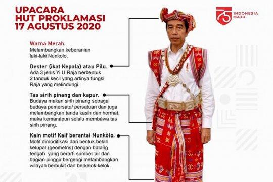 Makna tenun kaif NTT yang dipakai Jokowi saat upacara HUT RI