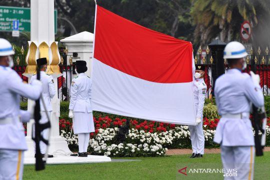 Upacara peringatan detik-detik proklamasi di Istana Merdeka