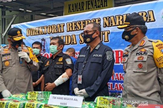 Anggota Polda Sumut terluka saat pengungkapan 100 kilogram sabu-sabu