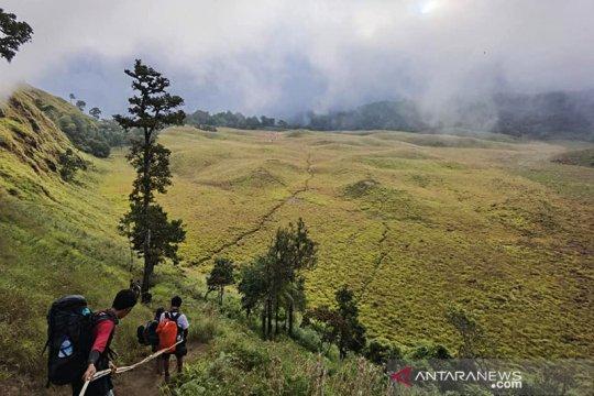 Kementerian LHK izinkan wisata pendakian Gunung Rinjani Lombok