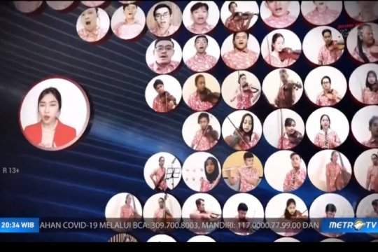 Raisa-Isyana tampil memukau pada konser virtual GBN
