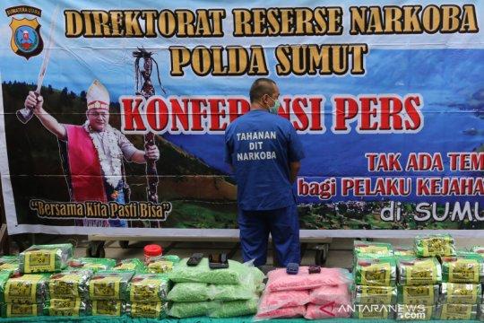 Polisi di Deli Serdang gerebek tiga rumah, sita 42 kg sabu-sabu