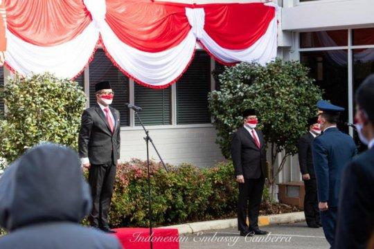 KBRI Canberra adakan upacara HUT RI dengan protokol kesehatan ketat