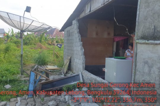 BPBD laporkan satu rumah rusak akibat gempa magnitudo 6,9 di Bengkulu