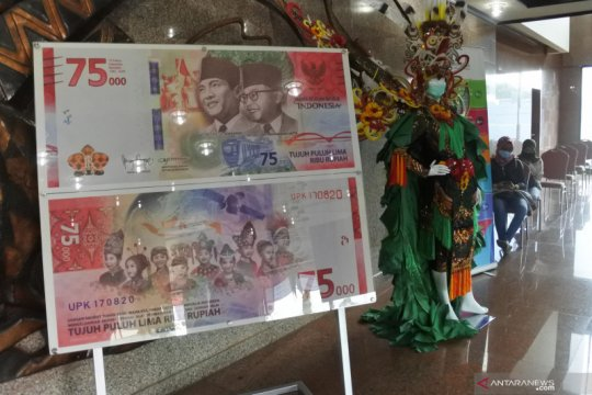 Uang baru pecahan Rp.75.000