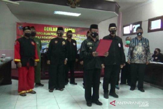 """Sejumlah perguruan silat di Madiun deklarasikan """"Suroan"""" damai"""