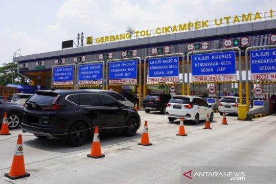 78.114 kendaraan tinggalkan Jakarta melalui Tol Jakarta-Cikampek