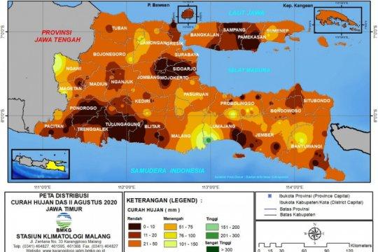 Sejumlah wilayah di Jatim alami kekeringan ekstrem