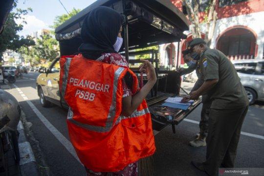 Denda pelanggar PSBB transisi fase kelima di Jakarta capai Rp4 miliar
