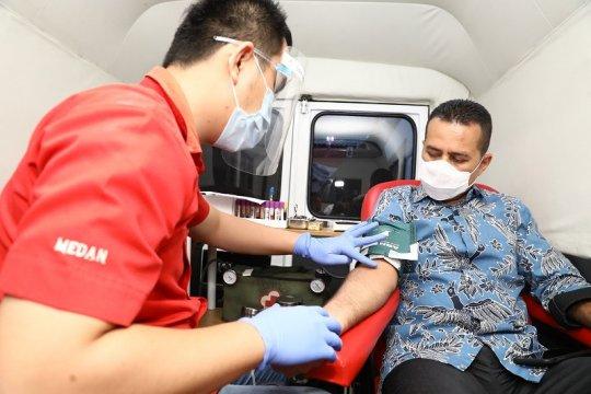 Stok darah di PMI Medan menipis selama pandemi COVID-19