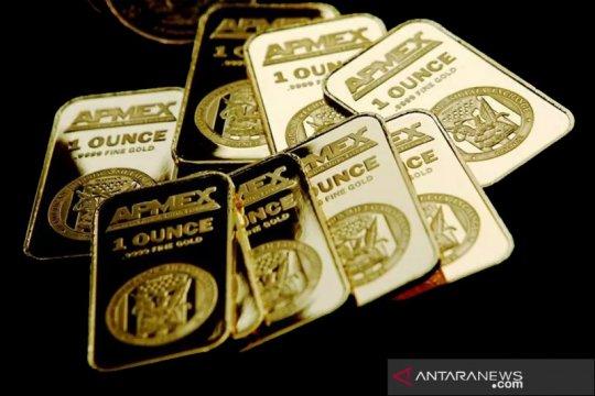 "Emas turun 3,5 dolar, komentar ""dovish"" ketua Fed tahan kerugian"