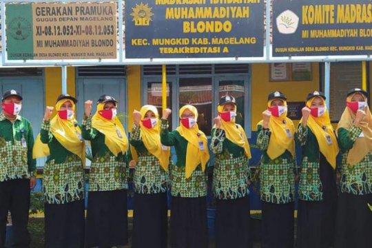 4 SMK Muhammadiyah di Kabupaten Magelang ikut Gerakan Satu Juta Masker