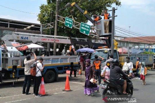 Dishub Kota Bogor: Salah satu tiang penyangga jembatan MA Salmun retak