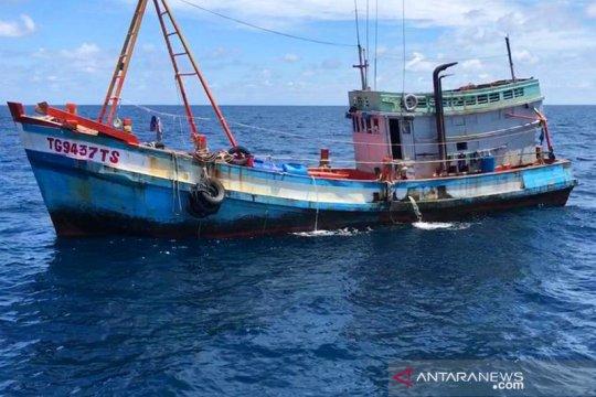 Dua kapal asing pencuri ikan ditangkap di Laut Natuna Utara
