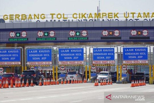 224.496 kendaraan tinggalkan Jakarta melalui Tol Jakarta-Cikampek
