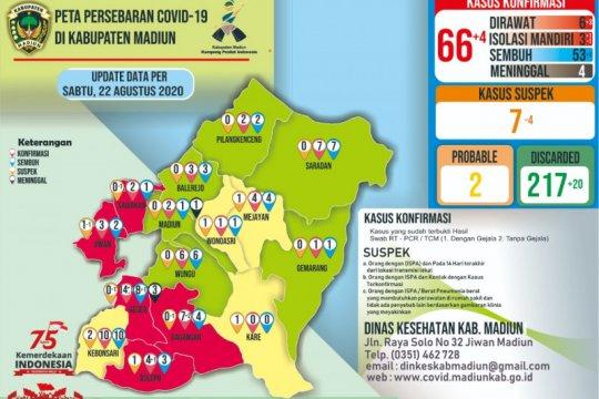 Positif COVID-19 Kabupaten Madiun-Jatim bertambah empat, jadi 66 orang