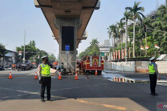 Polisi masih tutup jalan menuju Kantor Kejaksaan Agung