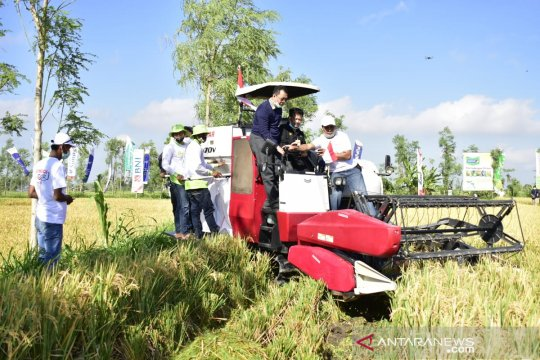 Perkuat pertanian NTB, Mentan serahkan bantuan Rp120 miliar