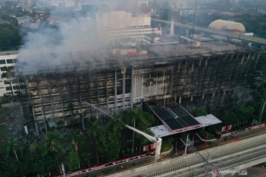 Polisi: Kerusakan gedung Kejaksaan Agung cukup parah