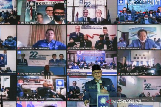 PAN gelar peringatan HUT ke-22 secara virtual