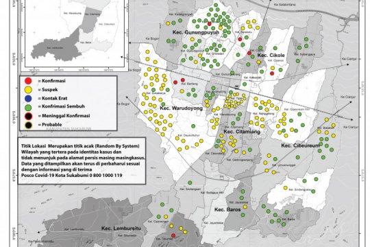 114 pasien COVID-19 di Kota Sukabumi sembuh
