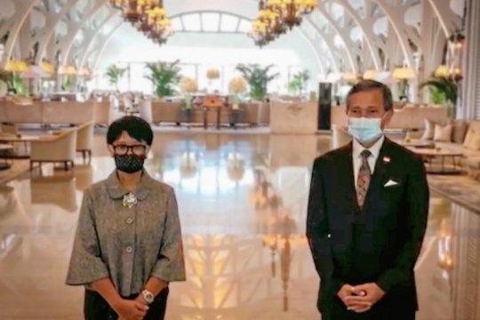 "Menlu RI, Singapura bertemu bahas rencana pembuatan ""travel corridor"""