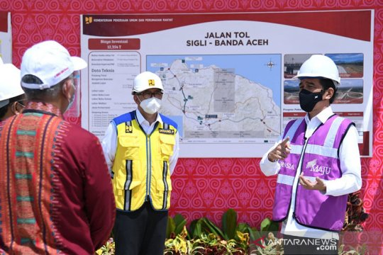 Presiden: Pembebasan lahan jalan tol di Aceh paling cepat