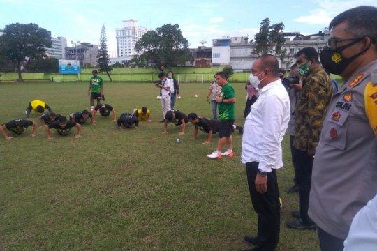 Gubernur Sumut motivasi pemain PSMS Medan