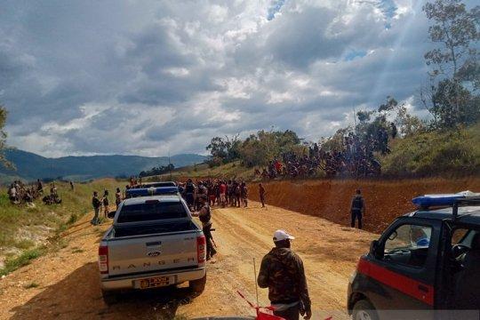 Jayawijaya, dua kampung yang berperang sepakat denda adat 65 ekor babi