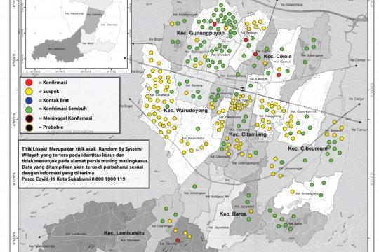 Pasien COVID-19 di Kota Sukabumi terus berkurang