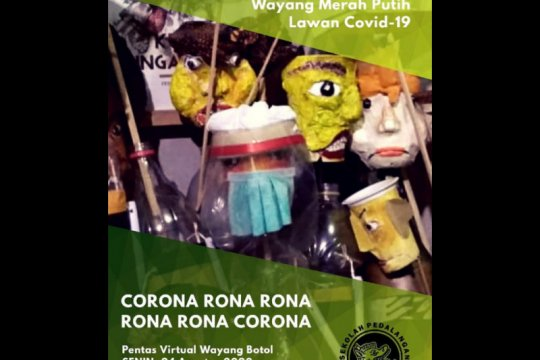 """""""Corona oh corona"""" dari pentas virtual Wayang Botol"""