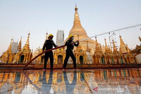 Kasus COVID-19 meningkat, Myanmar bergegas membangun RS lapangan