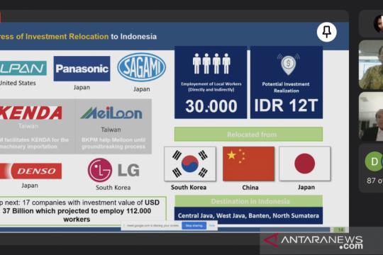 59 perusahaan Taiwan berpotensi pindahkan pabrik ke Indonesia